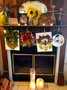 Decorating your mantel for autumn & mabon. Get more ideas at www.TheSeasonalSoul.com