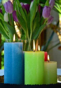 Light Candles with your family to celebrate the spring equinox.