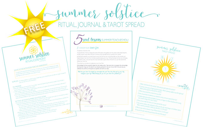 Free Summer Solstice Ritual, Tarot Spread & Journal