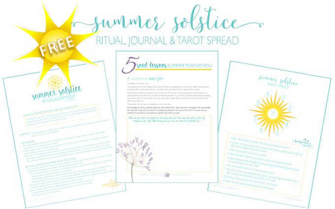Free Summer Solstice Ritual, Tarot Spread & Journal