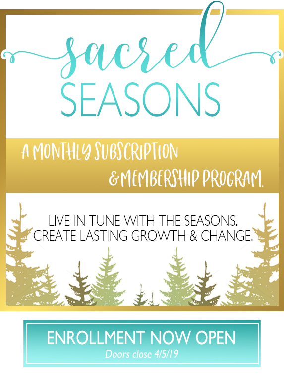 Sacred Seasons - Your Personal Journey Through the Wheel of the Year. Click Here