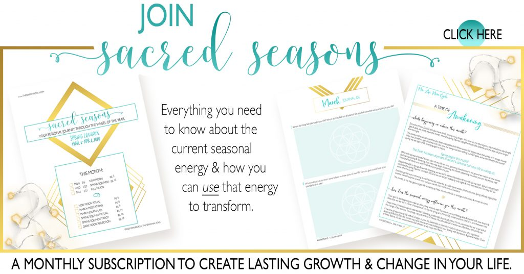 Sacred Seasons Monthly Subscription - Create Lasting Growth & Change in Your Life