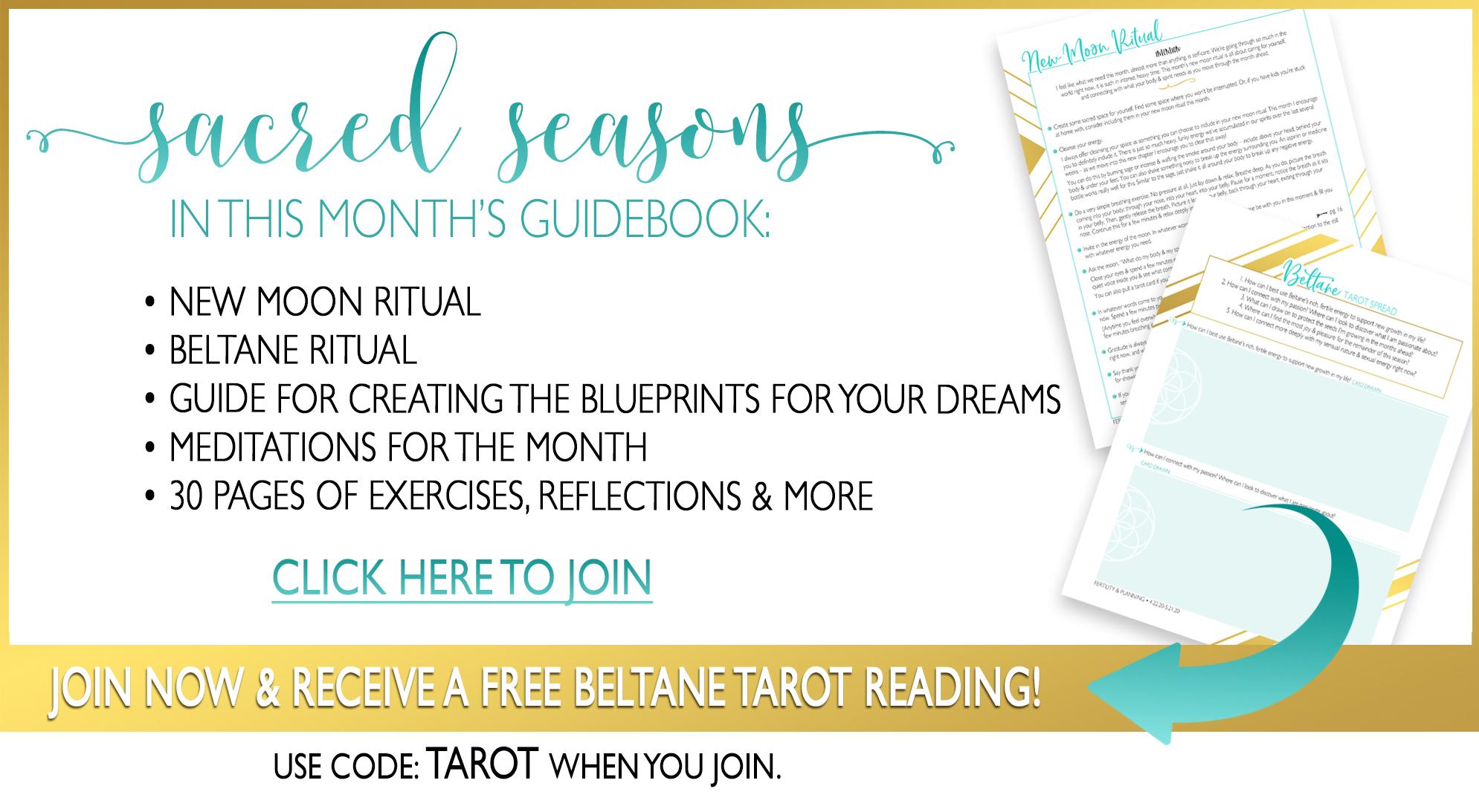 Beltane Guidebook •April New Moon Ritual